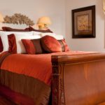 The luxurious bed in the Orlando Suite at Stonecroft Country Inn