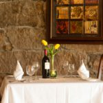 A set table in the Stonecroft Country Inn Dining Room