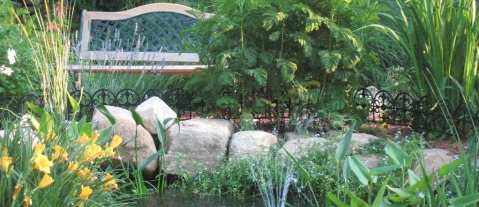 the gardens at Stonecroft Country Inn are just one way to enhance your stay near Mystic CT