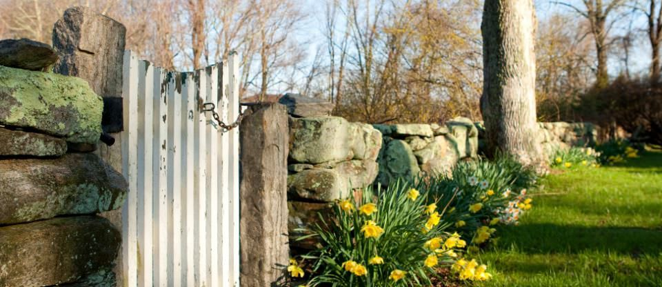 The historic stone walls make Stonecroft Country Inn a perfect New England Vacation Getaway