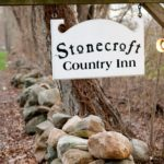 Stonecroft Country Inn sign near Mystic CT