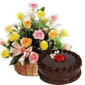 """Make it a special birthday - $40.00 Personal cake and seasonal bouquet"