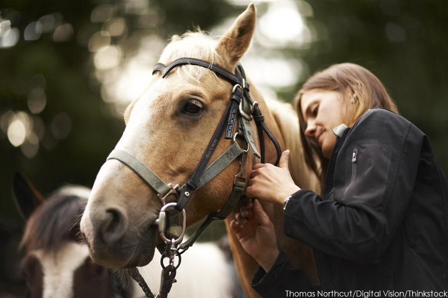 Woman Enjoying Horseback Riding in CT