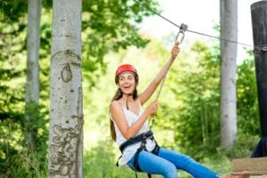 Enjoy ziplining at the Fields of Fire Adventure Park