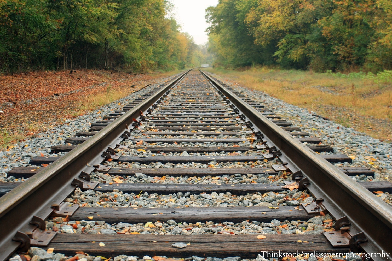 train tracks and orange1 - photo #27