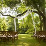 view down aisle for outdoor wedding