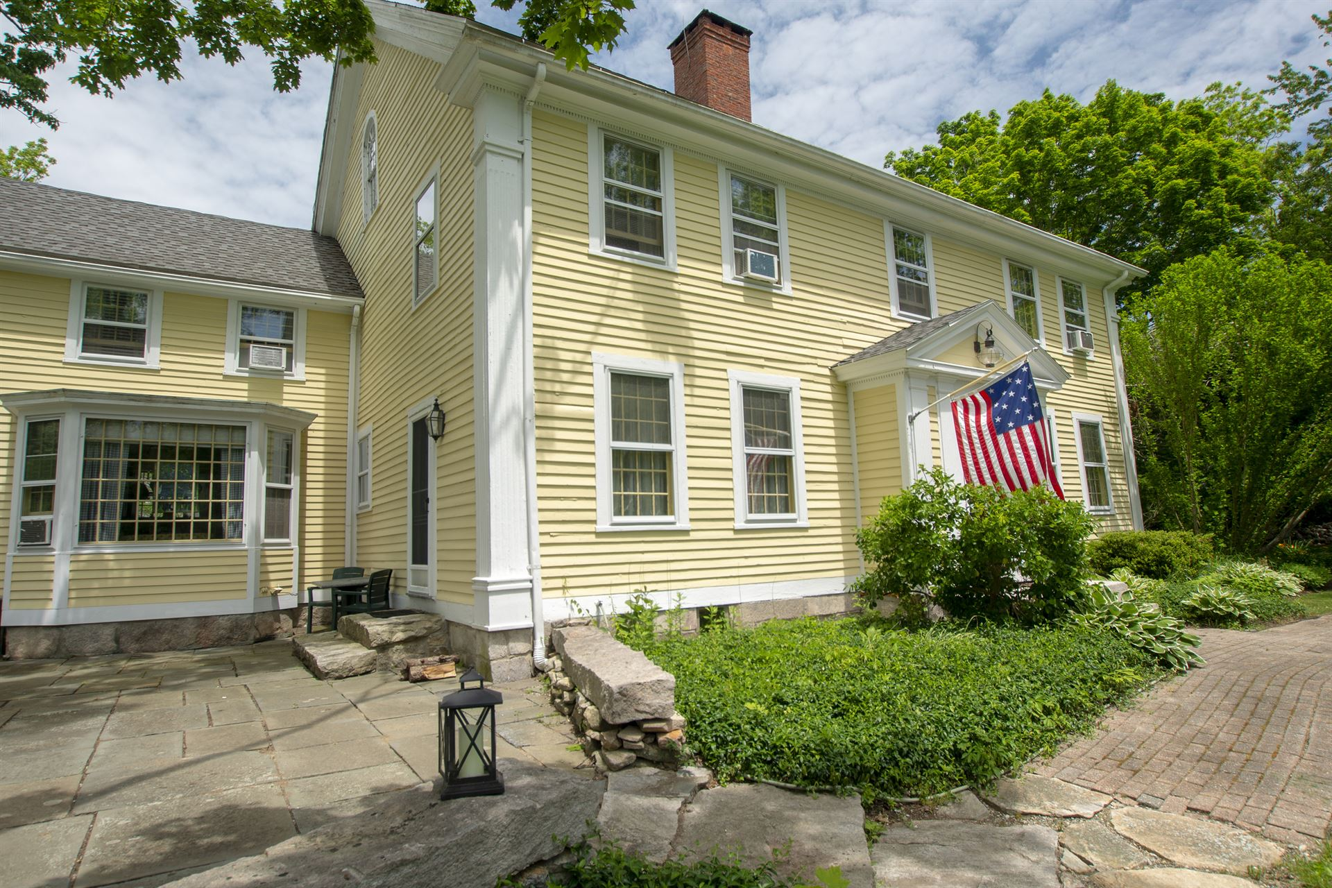 view of house with American Flag
